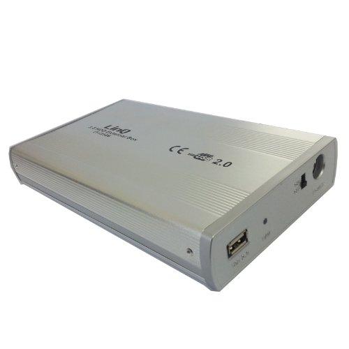 BOX CASE ESTERNO 3.5' POLLICI PER HARD DISK HDD HD USB IDE IN ALLUMINIO LINQ NEW