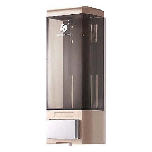 Anself Seifenspender zum-Einhebelmischer Flaschen individuellen 500ml Spender von Flüssigkeiten Hände für Badezimmer Champagne Or (Dusche Bank Wandhalterung)