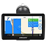 AWESAFE Navigation für Auto Navigationsgerät 7 Zoll Navigationssystem mit Professional Europa Karten Lebenslang kostenlos Kartenupdate