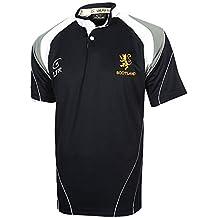 Camiseta de Rugby Tejido Transpirable con Escudo de León de Escocia (Lion  Rampant) Bordado b1ea8825bc7f3