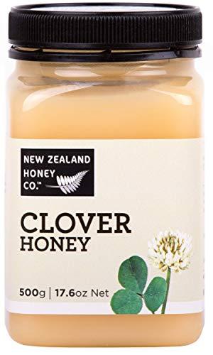 Wilder Klee-Honig von New Zealand Honey Co. | 500g |Köstlicher Weißklee-Honig von der Südinsel von Neuseeland | Neuseeland Honig Unternehmen -