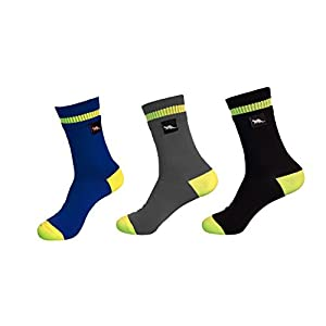 waterproof breathable socks by otter for men and women outdoor activities golf running cycling hiking walking. bamboo fabric properties anti-bacterial, anti-fungal. temperature control.