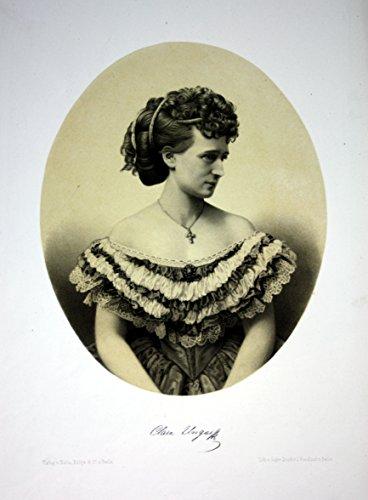Klara Ungar Opernsängerin Wien Berlin Portrait Lithographie Litho