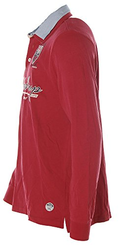 Kitaro Herren Langarm Shirt Poloshirt Hemdkragen -Barbados Cup - True Red