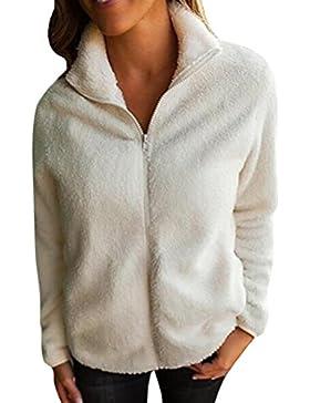 LuckyGirls ❤️• •❤️ Abrigo de la blusa de las mujeres cremallera caliente del invierno algodón abrigo de chaqueta...