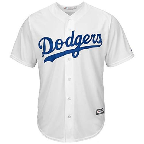 YQSB Jersey Baseball Baseball League Los Angeles Dodgers,White,Men-XL