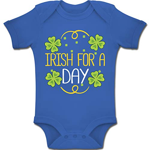 Strampler Motive - Irish for a Day - 1-3 Monate - Royalblau - BZ10 - Baby Body Kurzarm Jungen ()