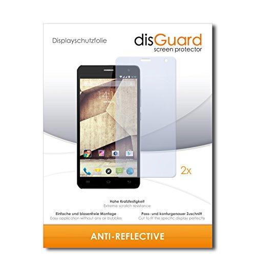 disGuard® Bildschirmschutzfolie [Anti-Reflex] kompatibel mit Allview P6 Qmax [2 Stück] Entspiegelnd, Matt, Antireflektierend, Extrem Kratzfest, Anti-Fingerabdruck - Panzerglas Folie, Schutzfolie