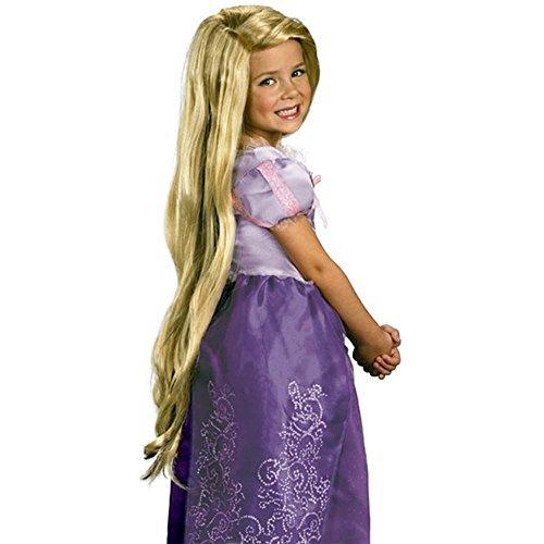 SODIAL (R) Rapunzel Benutzerdefinierter Stil Blonde Peruecke (Kind)