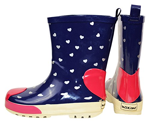 maximo , bottes en caoutchouc fille navy/sangria