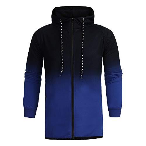 (Zegeey Mode Herren Sport Herbst Winterjacke Absolvierte schlanke Langarm Hoodie Top)