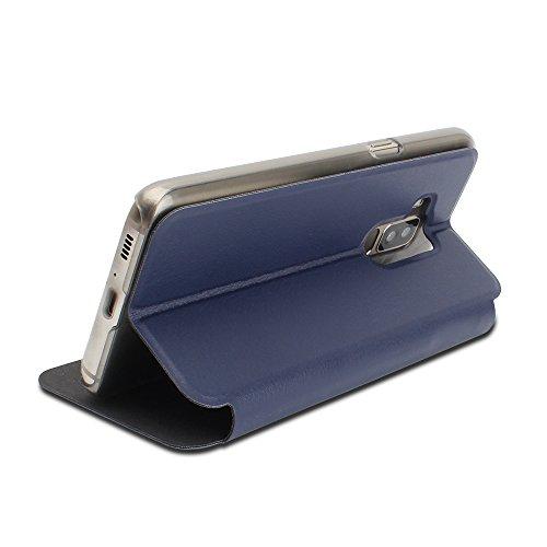 Easbuy Mit Hard Plastik Etui Pu Leder Kunstleder Flip Cover Tasche Hülle Case für Bluboo S8 Smartphone Handytasche Handyhülle Schutzhülle Etui Halter Halterung Handyhalter