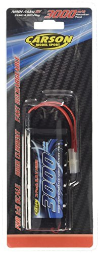Carson 500608142 - NiMH-RX-Pack-6V-SubC3000mAh-TAM/BEC , Zubehör Rx Pack