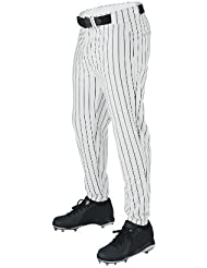Wilson Sporting Goods Youth Deluxe Poly Warp Knit Pinstripe Baseball Pant, Small, White with Black by Wilson