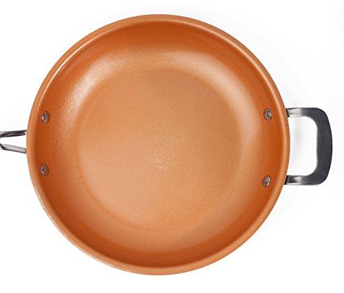 PALEMISO Brat-Pfanne mit Kupfer-Keramik-Titan-Beschichtung (28 cm)