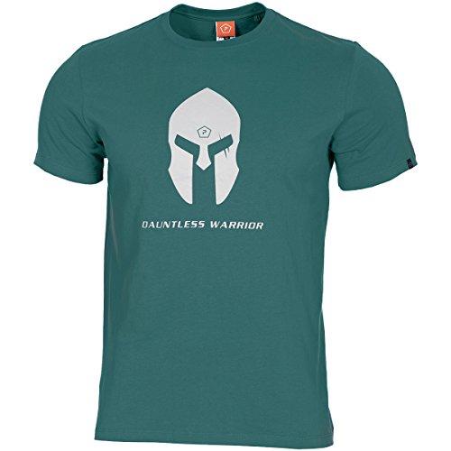 Pentagon Herren Ageron T-Shirt Spartan Helmet Petrol Blue größe XL