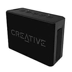 Creative Muvo 1c Water Resistant Palm Sized Bluetooth Speaker for Music Festivals, Concerts, Raves, Dust, and More (Black)