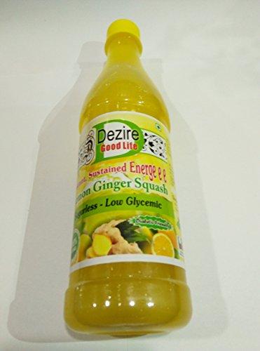 Dezire LG Natural Diabetics Sugar Free Lemon Ginger Squash 700Ml
