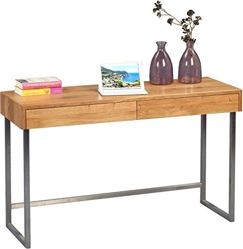 HomeTrends4You 616022 Konsole/Schreibttisch, Holz, wildeiche / edelstahl, 120 x 42 x 75 cm