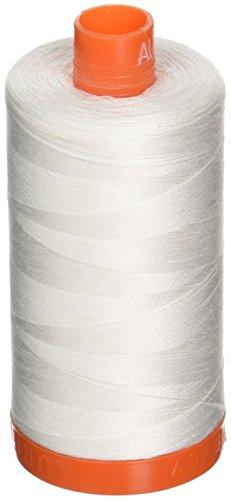 Aurifil,-2021Mako-Baumwolle Gewinde 50WT 1422yds massiv Natur weiß -