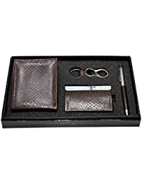 [Sponsored]Vanalika Combo Of Gents Wallets,Visiting Card Holder,Key Ring And Pen(Gift Set Made Of Leatherite)