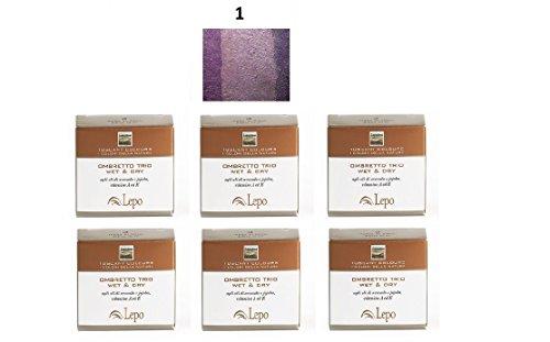 lepo-6-confezioni-di-ombretto-trio-wet-dry-tuscany-n1-tramonti-toscani-viola