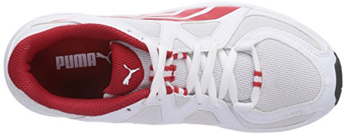 Puma  Axis v3 Mesh, Chaussures de fitness pour femme Blanc - Weiß (white-high risk red 02)