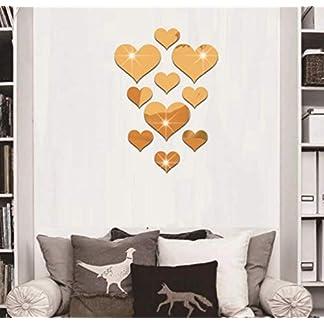 Waymeduo Desmontable decorativo bricolaje artesanal decoracion hogar acrilico espejo