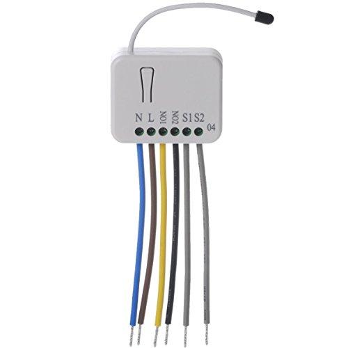Z-Wave PHIEPAN04-1B Philio Relais Unterputzeinsatz 2 Schalter a 1.5kW mit Messfunktion -