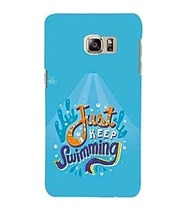 FUSON Just Keep Swimming Baby 3D Hard Polycarbonate Designer Back Case Cover for Samsung Galaxy Note Edge :: Samsung Galaxy Note Edge N915Fy N915A N915T N915K/N915L/N915S N915G N915D