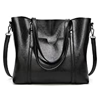 OKASIS Womens Tote Bags, Womens Handbags Ladies Designer Shoulder Bags,Women Retro Tote Bags Top Handle Satchel Handbags (Black)