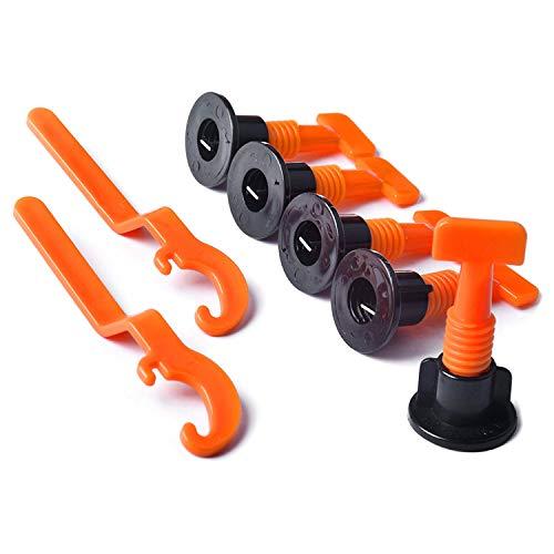 Andifany 50 Teiligem Fliesen Niveau Abstands Halter, 2X Spezial Schlüssel, Wieder Verwendbarem Fliese Montage Werkzeug Kit für Den Bau Wie Das Erstellen Von W?nden und Fu?b?den