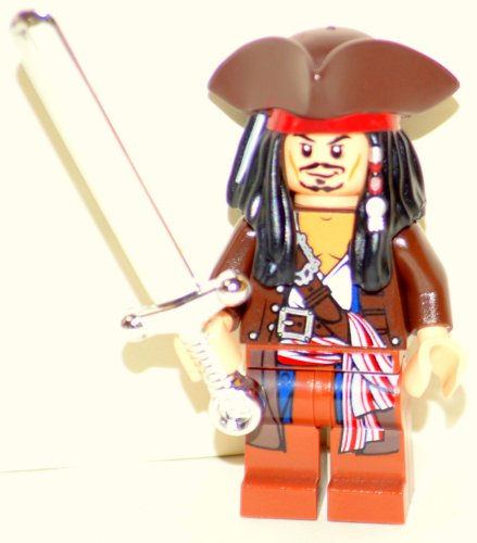 Lego Captain Jack Sparrow with Tricorne Pirates of the Caribbean Chrome Sword (Tricorne Pirate)