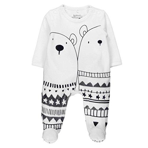 Bóboli Unisex Baby Spieler Velour Play Suit For, Elfenbein (Off White 1111), 62