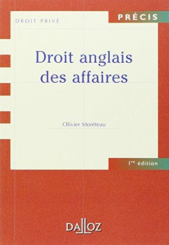 Droit anglais des affaires par Olivier Moréteau
