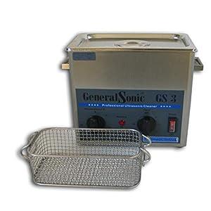 GeneralSonic GS3-3 Liter | Ultraschall-Reiniger, Edelstahl Ultraschallreinigungsgerät, Ultraschallbad mit Heizung, Ultraschall mit Frequenz 35 kHz, Zeiteinstellung: 0-30 Minuten