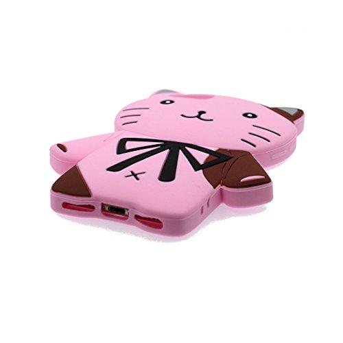 iPhone 6S Copertura,iPhone 6 Custodia,hamburger del fumetto 3D bella copertura molle della cassa del silicone di TPU della pelle protettiva della pelle Case cover per iPhone 6S / 6 4.7 inch rosa