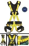 IMBRACATURA comfort PROFESSIONALE ANTICADUTA ARRAMPICATA rock climbing: 5 punti d'ancoraggio CE sospensione in aria, protezione sicurezza personale, cintura, imbracatura tessile anticaduta via ferrata