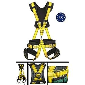 Embrague Arnés anticaída confort profesional: 5 puntos de anclaje CE suspensión en aire, protección seguridad personal, cinturón textil, armadura de escalada rock climbing