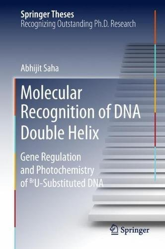 MOLECULAR RECOGNITION DNA DOUBLE HELIX GENE REGULATION PHOTOCHEMISTRY BRU SUBSTITUTED DNA SPRINGER THESES por Abhijit Saha
