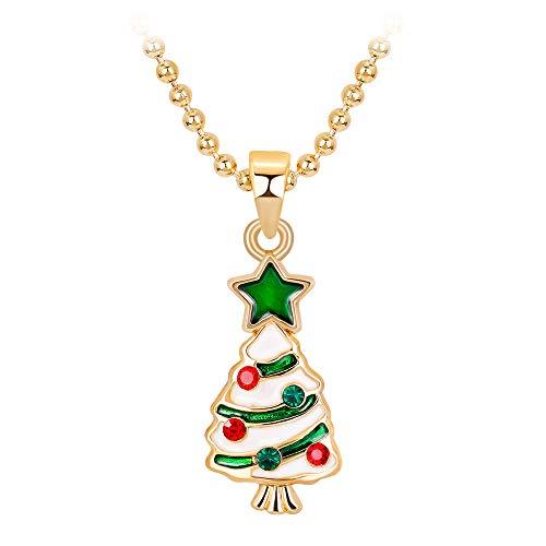 XIAOJING Charm-Halskette. Halskette mit Herz-Anhänger für Damen, romantisch, modisch, mit Strasssteinen Gr. Einheitsgröße, B Front Jersey Dress
