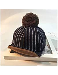 Casquette enfant Infant Stripe forme langue de canard Cap bébé chapeau  chaud chapeau équestre pour 0 3ecd9af5a25