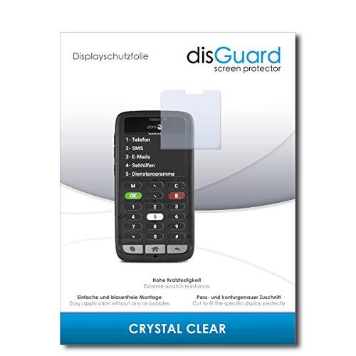disGuard® Displayschutzfolie [Crystal Clear] kompatibel mit Doro 8031C [4 Stück] Kristallklar, Transparent, Unsichtbar, Extrem Kratzfest, Anti-Fingerabdruck - Panzerglas Folie, Schutzfolie