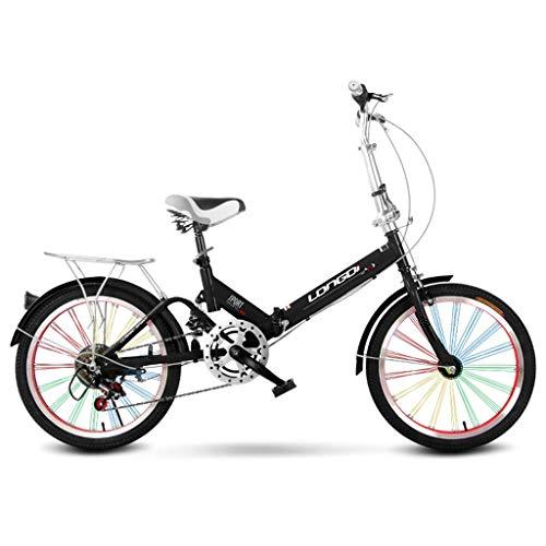 Xiaoping Faltbare Fahrrad 20 Zoll Erwachsene Single Speed   Licht Tragbare Männer Und Frauen Stoßdämpfer Fahrrad Kind Fahrrad Kind Klapprad (Color : 2)