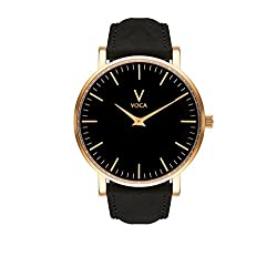 Tempus 40mm Black and Gold with Black suede strap