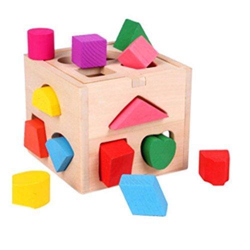 Holzfarben frühe pädagogische Flexible Lustige Shaped-Spiel Block-Spielwaren