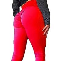Fousamax Mallas Deportivas Mujer Leggins Yoga Pantalon Elastico Cintura Altura Polainas para Running Pilates Fitness