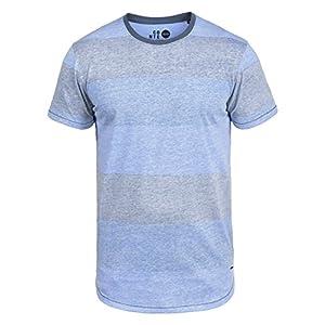!Solid Teine Herren T-Shirt Kurzarm Shirt Mit Streifen Und Rundhalsausschnitt
