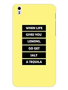HTC Desire 816 Back Cover - Tequila - When Life Gives You Lemons Typography - Designer Printed Hard Shell Case