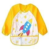 Babero con mangas para bebés Delantal Impermeabilización y barrido - Delantal de comer y jugar (6-36 meses)